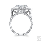 Octagon Halo Diamond Ring